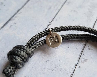 Lakesman Triathlon Paracord Bracelet with Silver Charm