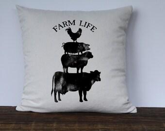 Farmhouse Pillow Cover, Custom Pillow Cases, Decorative Pillow Covers, Couch Pillow Cover, Farmhouse Decor