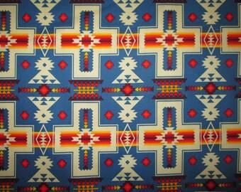 Navajo Cross Native American Blue Orange Cotton Fabric Fat Quarter Or Custom Listing