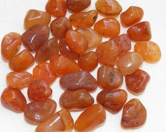 Carnelian Tumbled & Rough - Gemstone, Crystal
