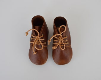 SALE - desert boot / soft soled shoes / dark brown leather