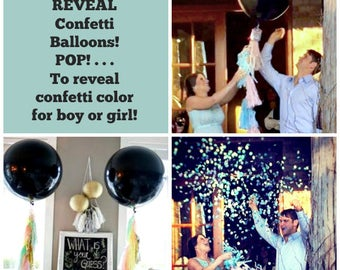 Balloons Gender Reveal Balloon Baby Shower Pop Confetti Balloons 1 Balloon Giant Balloon Black Balloon Large Balloon 24 Inch 36 Inch Balloon
