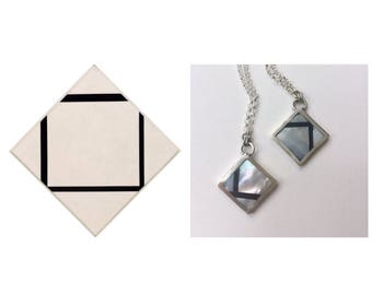 Mondrian Losenge Inspired Pendants (top right only)