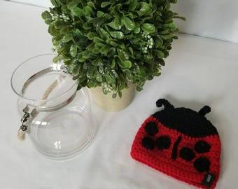 Ladybug crochet hat
