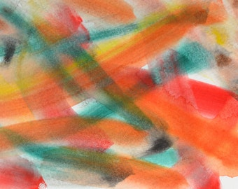 """Original Painting - 5"""" x 7"""" - Abstract - Multicolored Watercolor Painting - 2015-360"""