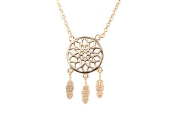 Dream Catcher Necklace in Silver or Gold Plated