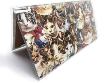 Checkbook Cover - Cat Heads