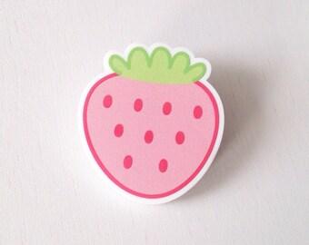 Acrylic hair clip - Strawberry