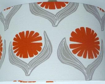 Lotta Jansdotter Signature Driva Orange Drum Lampshade