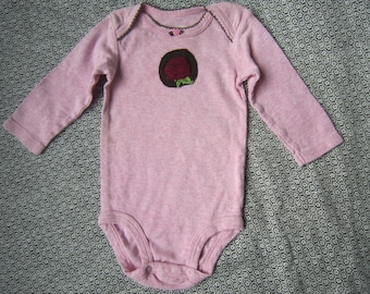 Red Rose Long Sleeve Onesie