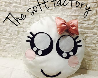 Pillow with bow cushion pink