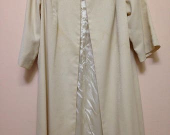 Champagne coloured vintage swing coat approximate sizing 12-14