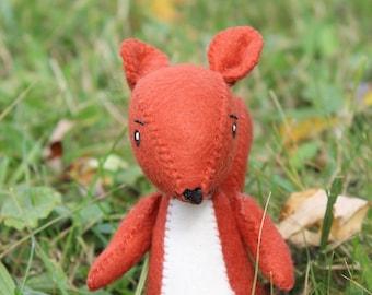 Felt Red Squirrel