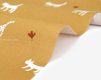 Dailylike (cotton) - Camping cook : alley cat Fabric- 50cm