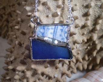 Genuine Beach Pottery and Sea Glass Necklace