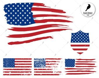 distressed flag etsy rh etsy com us flag clip art free us flag clip art free downloads