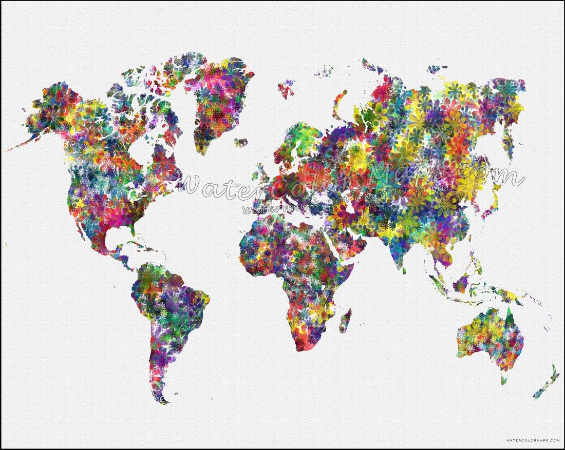 Flowers world map map of the world world map map of the ampliar gumiabroncs Gallery