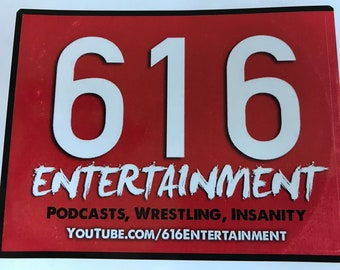 616Entertainment Logo Sticker