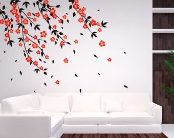 Cherry Blossom Tree Wall Decal Wall Stickers For Bedrooms Decals Baby Room  Designs Stick On Wall