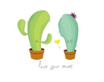 A Cacti Romance Print