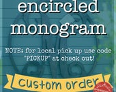 Wooden Monogram,Single Le...
