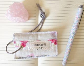 Memory jar label tag