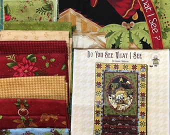 """KIT - Do You See What I See ADVENT CALENDAR Kit by Leanne Anderson of The Whole Country Caboodle for Henry Glass Advent Calendar, 32"""" X 51"""""""