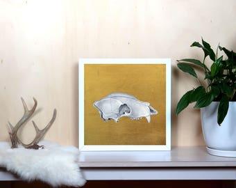Bear Skull 2 on Gold