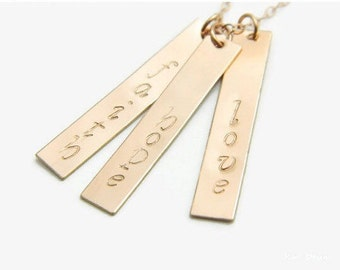 Custom Necklace, Bar Necklace, Name Necklace, Namplate Necklace, Personalized Necklace, Name Bar Necklace, Custom Bar Necklace