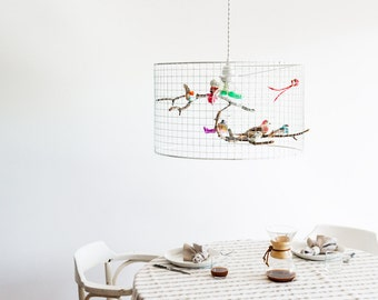 White Birdcage Pendant Light Chandelier