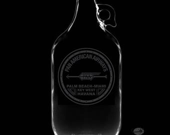 64 Ounce Pan Am Personalized Growler