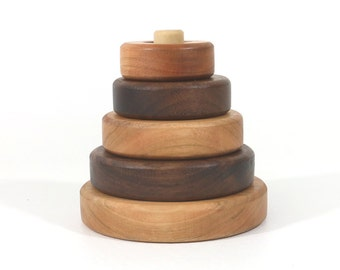 Wooden Stacking Toy Wooden Toy Toddler Toy Baby Toy Wood Toy Educational Toy Waldorf Toy Wood Stacking Toy Montessori Toy Educational Toy