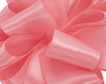 """1.5"""" Double Face Satin Ribbon -Pink--your choice of length"""