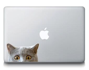 Cat Peeking Vinyl Decal Sticker