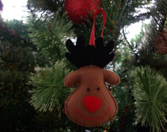 Felt reindeer, Reindeer decoration, Christmas decoration, Christmas felt decoration,