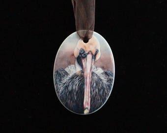 Ceramic Ornament - Pelican
