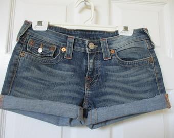 True Religion denim Cut off Jean Shorts size 29 Joey jeans Free Shipping in U.S. !!!