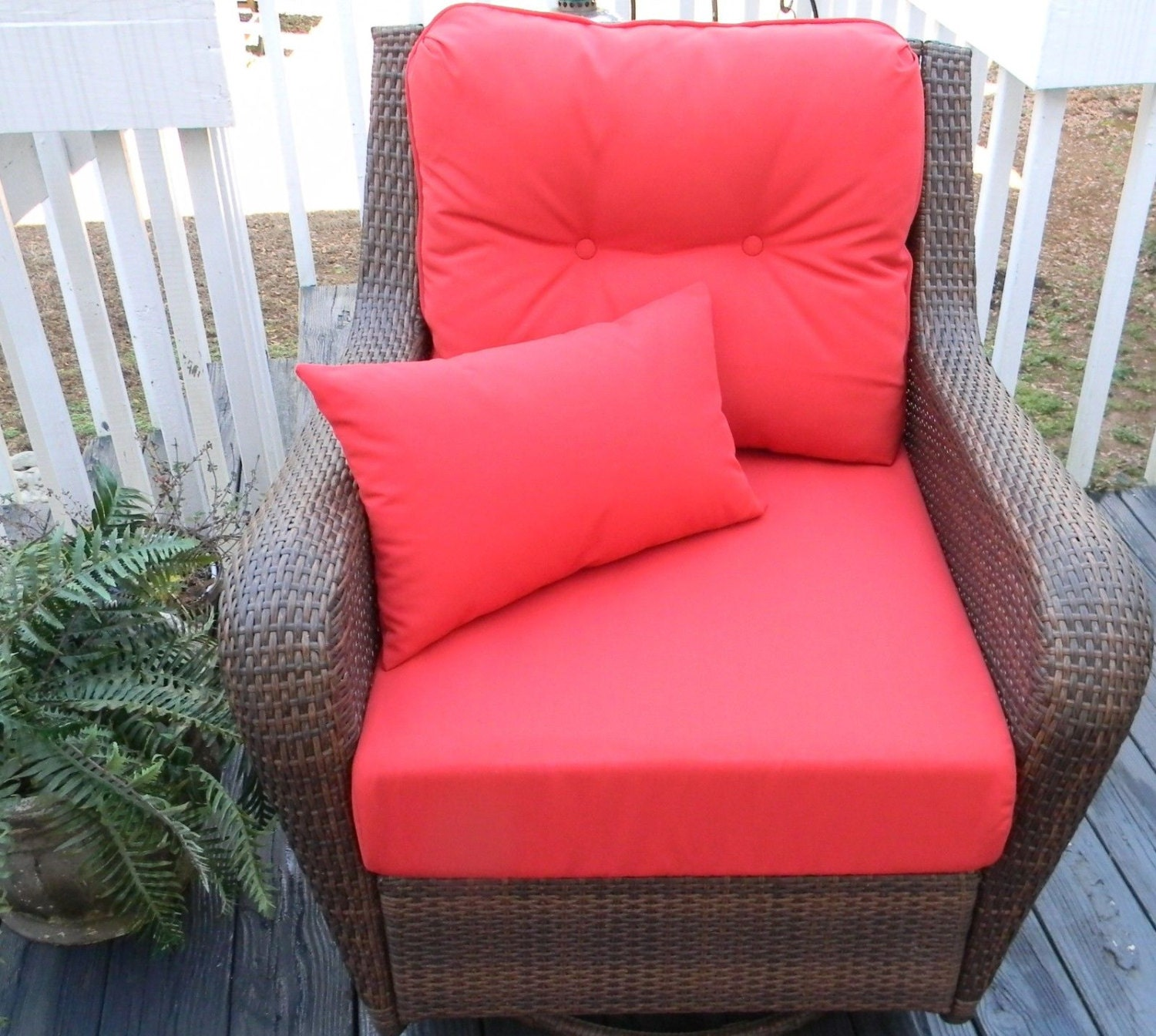 Indoor Outdoor Cushions for Deep Seating Seat & Back