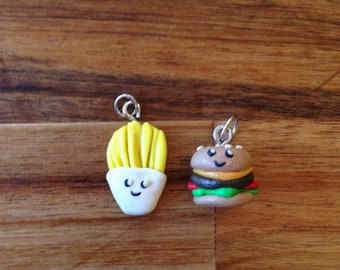 Burget and fries BFF charms