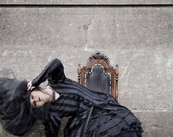 Cabaret Noir Bustle Jacket by Kambriel - Designer Sample - Brand New & Ready to Ship!