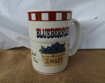 Farm Fresh Collection, Home Trends, Blueberry Coffee Mug