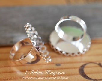 Ring round 25 mm x 4 silver lace