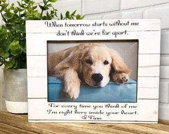 Dog Loss Frame- Pet Loss Frame- Memorial Frame- Cat Loss Frame- Personalized Pet Loss- Dog Frame- Pet Loss