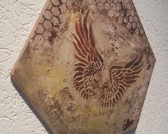 Steampunk vintage retro decoupage scrapbooking 3 D mixed media Angels wings Angel Wings