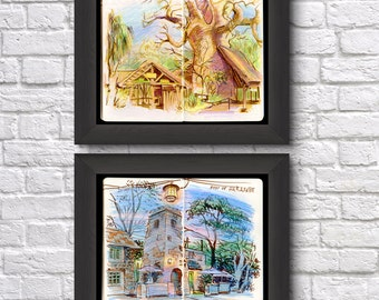Walt Disney World Sketchbook Prints
