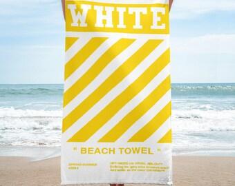 OFF-WHITE Beach Towel Yellow - Summer 2018