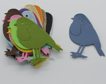 Sparrow bird, cut paper cardstock supply made handmade multicolored embellishment, scrapbooking, cardmaking, animal, nature, Easter
