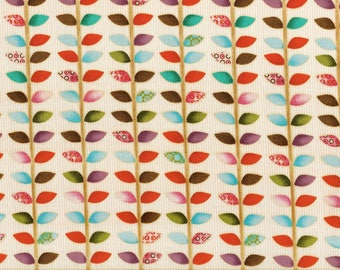 cotton material for patchwork and crafts - leaves and stems
