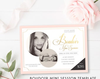 5x7 Boudoir Marketing Board - Boudoir Mini Session Marketing Template - Photographer Marketing  - Photoshop Templates - INSTANT DOWNLOAD