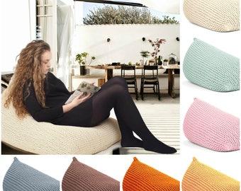 16 Colors BEAN BAG Knitted / Floor Cushion/ Hypoalergic Bean Bag/rope Bean  Bag
